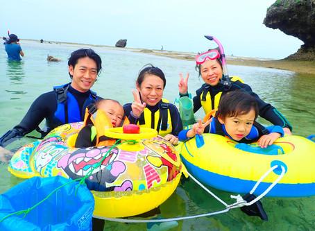 家族三世代での沖縄シュノーケル