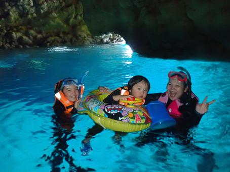 子供と一緒に青の洞窟♪