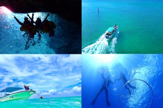 1組貸切青の洞窟ボートツアー.JPG