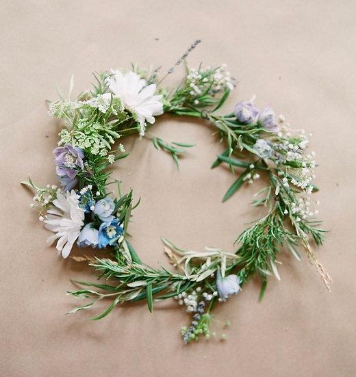 Fresh flowers crown