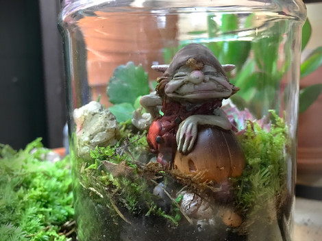 Eik woodland troll terrarium