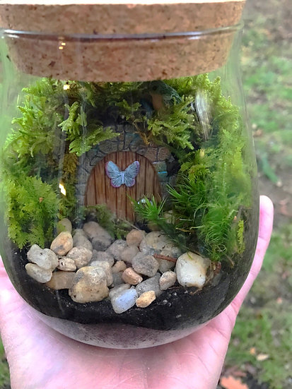 Hidden doorways terrarium