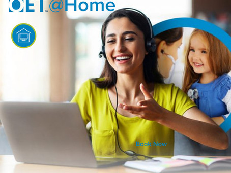 OET@Home - Take the OET test from the comfort of your own home!