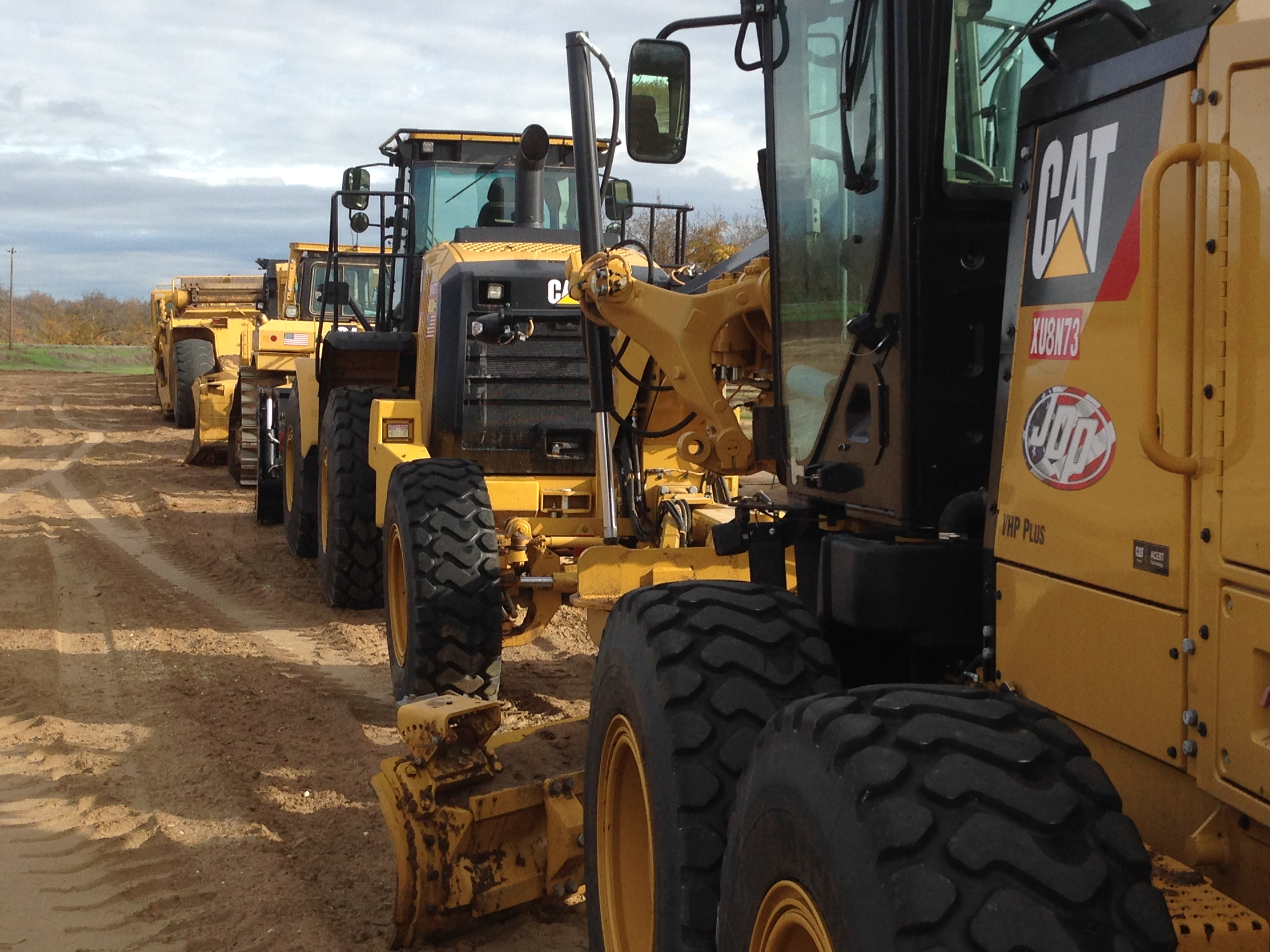 Lined up and Ready for work