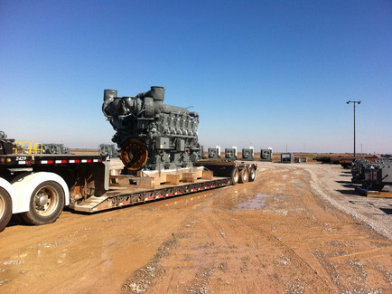 50,000# Compressor Engine Oklahoma City to West Virginia