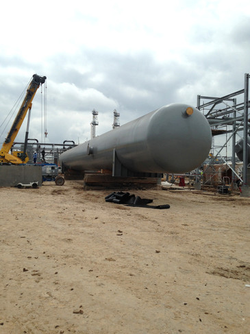 238,000# Product Surge Tank Self Unload in Nordhelm, Texas.
