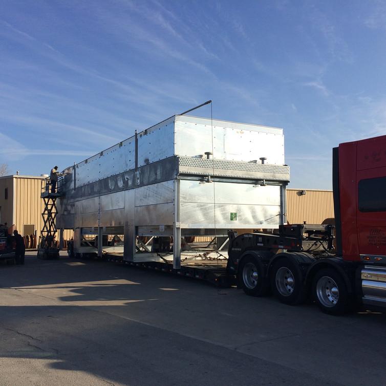 75,000#  Air Exchangers from Tulsa, Oklahoma to Williston, North Dakota.