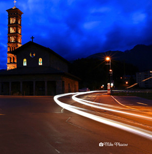 Midnight outside the church