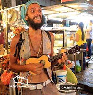 Street musician from uruguay