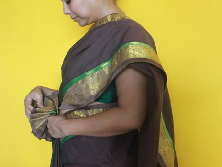 Kanchipuram Brown Silk