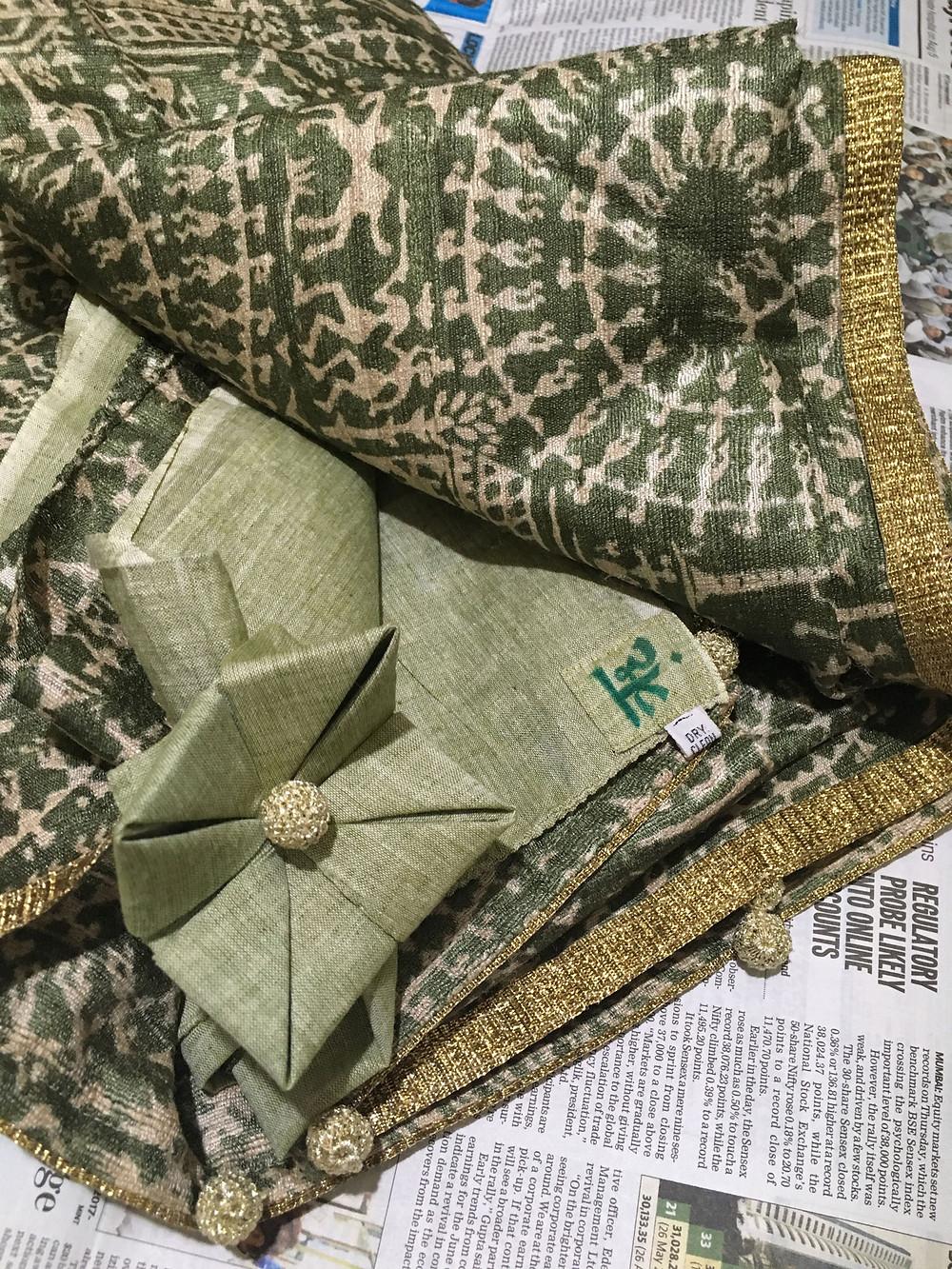 Samoolam crochet trims and leftover tape