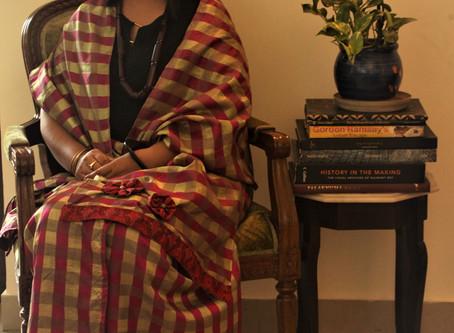 Checked Chanderi Silk