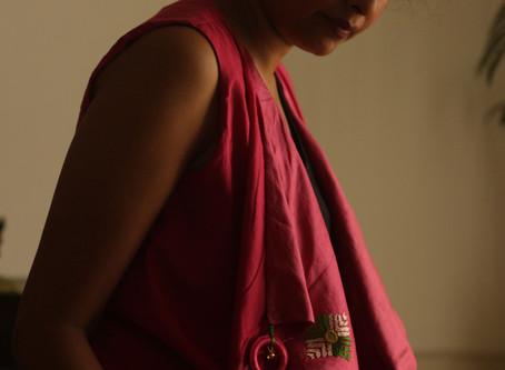 Phulkari Pink Silk