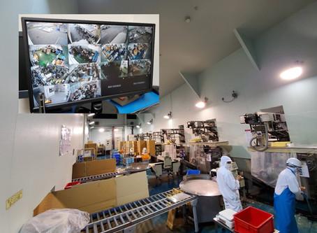 食品加工工場にカメラ14台設置(岐阜県揖斐郡i食品)