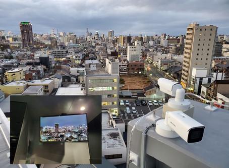 屋上夜景カメラ設置(名古屋市Pマンション)
