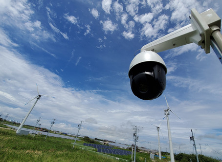 風力発電監視用カメラ(西尾市)