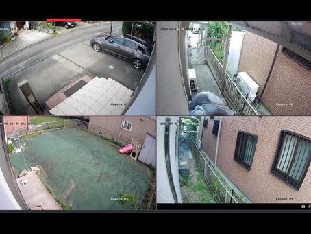 自宅兼事務所の事業主さん宅に防犯カメラ4台設置(稲沢市株式会社MS)