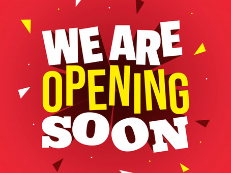 We are Re-opening on Friday !