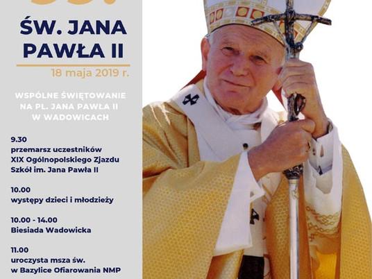 Obchody 99. rocznicy urodzin św. Jana Pawła II.