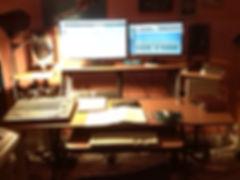 Recording studio at Piano Teacher London Islington London. Genene Edwards music producer and arranger. www.pianoteacherlondon.com
