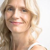 Blonde femme Sourire