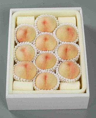 【ご家庭用/4kg】岡山白桃 なつごころ 平箱(約11~18個入り)