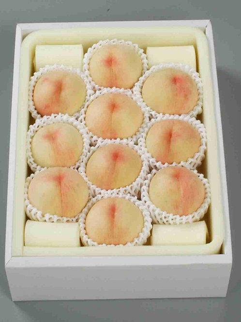 【ご家庭用/4kg】岡山一宮産白桃 なつごころ 平箱