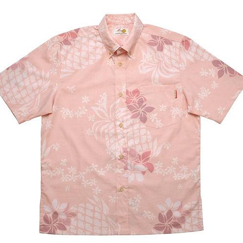 レンタルかりゆしウェア Men's パインプルメリア ピンク