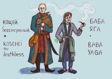 Character Designs: Baba Yaga and Koschei the Deathless