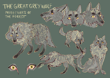 Character Design Sheet: The Great Grey Wolf