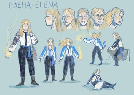 Character Design Sheet: Elena