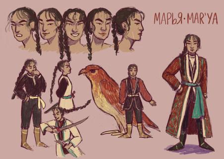 Character Design Sheet: Marya