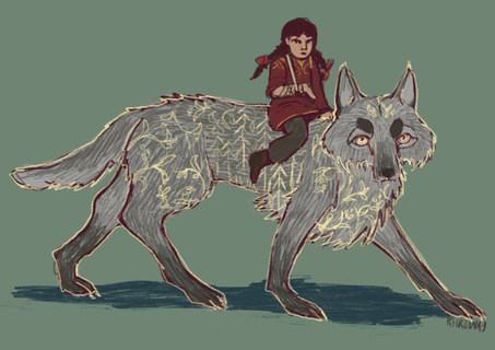 Alina and the Great Grey Wolf