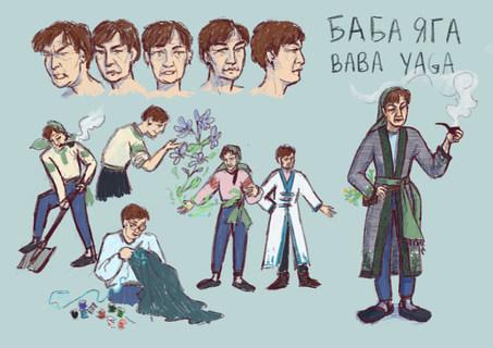 Character Design Sheet: Baba Yaga