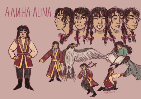 Character Design Sheet: Alina