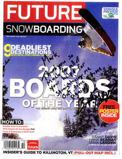 Brent Myer. Pro Snowboarder