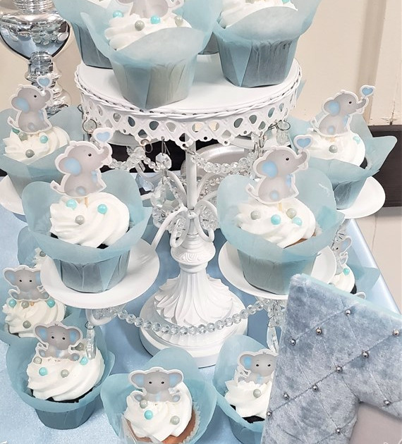 Baby Elephant Themed Baby Shower for Baby Boy Kysen