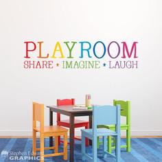 Share, Imagine,Laugh Room Decor