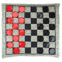 Giant 3-in-1 Checkers, Mega and Tic Tac Toe Carpet