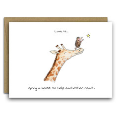 Love is Helping Each Other Reach Card
