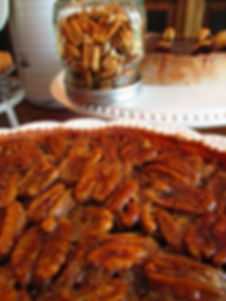 close up pecan pie with jar.JPG