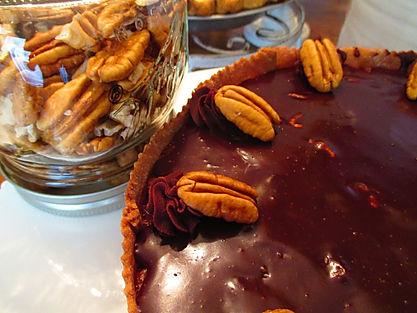 chocolate pecan pie with jar.JPG