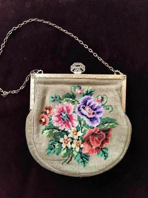 Abendhandtasche mit Rosenmotiv