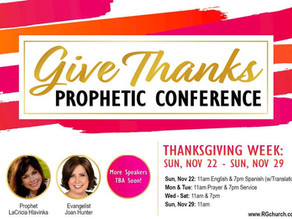 Give Thanks Prophetic Conference