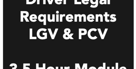 Driver Legal Requirements - 3.5 Hour Module