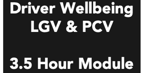 Driver Wellbeing - 3.5 Hour Module