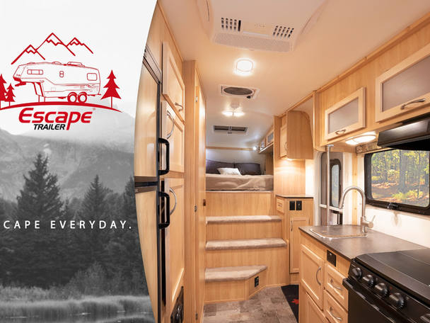 Escape trailers. Commercial photography
