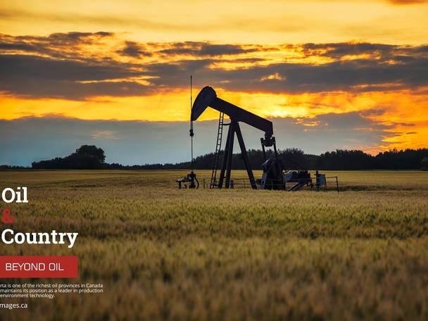 Industrial Photographer. Pump jack. Oil well