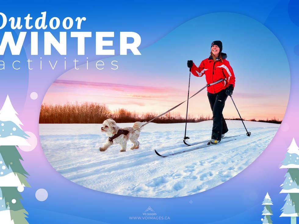 Winter activities. Cross-country skiing
