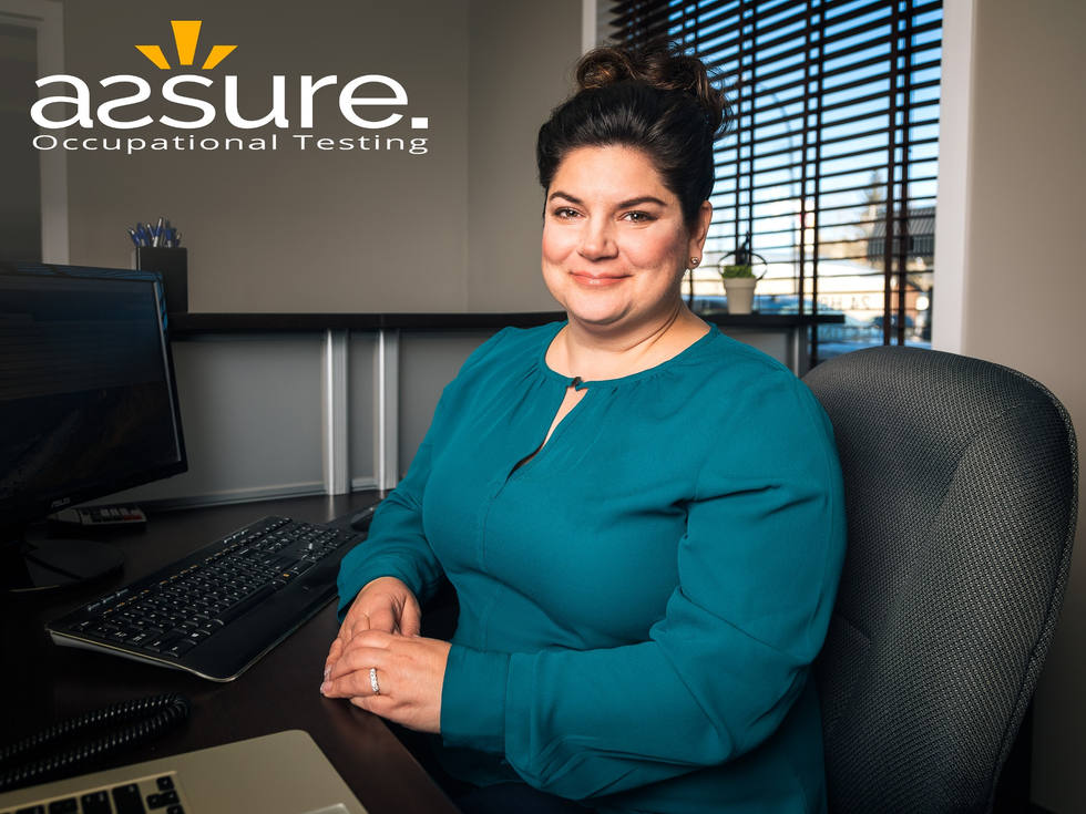 Corporate portraits photographer. Assure Occupational Testing Inc.